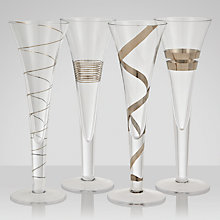 Buy LSA International Gatsby Flutes, Set of 4 Online at johnlewis.com
