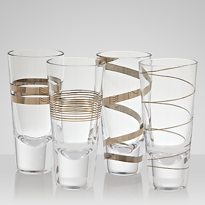 LSA International Gatsby Highball Glasses, Set of 4