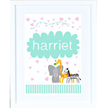 Buy Megan Claire Personalised When I Grow Up Animal Framed Print, 35.5 x 27.5cm Online at johnlewis.com