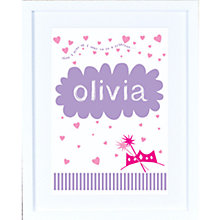 Buy Megan Claire Personalised When I Grow Up Princess Framed Print, 35.5 x 27.5cm Online at johnlewis.com