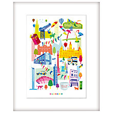 Buy Nicola Metcalf - Glasgow 2014 Framed Print, 54 x 44cm Online at johnlewis.com