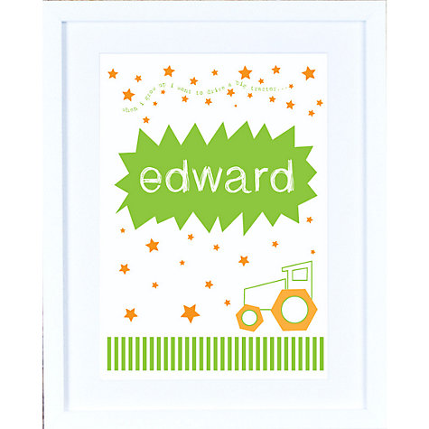 Buy Megan Claire Personalised When I Grow Up Farmer Framed Print, 35.5 x 27.5cm Online at johnlewis.com