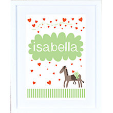 Buy Megan Claire Personalised When I Grow Up Ponies Framed Print, 35.5 x 27.5cm Online at johnlewis.com