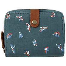 Buy White Stuff Canvas Dotty Purse, Ocean Teal Online at johnlewis.com