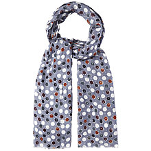 Buy White Stuff Geo Star Print Scarf, Blue Online at johnlewis.com