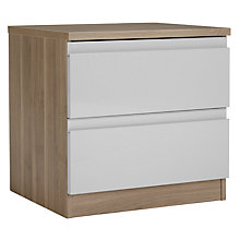Buy House by John Lewis Mix it 2 Drawer Bedside Chest, House Smoke/Grey Ash Online at johnlewis.com