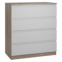 Buy House by John Lewis Mix it Wide 4 Drawer Chest, House Smoke/Grey Ash Online at johnlewis.com