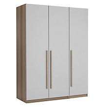 Buy House by John Lewis Mix it Block Handle Triple Wardrobe, House Smoke/Grey Ash Online at johnlewis.com