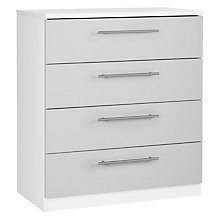 Buy House by John Lewis Mix it T-Bar Handle Narrow 6 Drawer Chest, House Smoke/Matt White Online at johnlewis.com