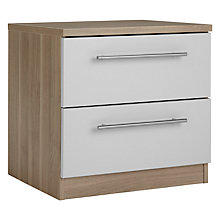 Buy House by John Lewis Mix it T-Bar Handle Bedside Chest, House Smoke/Grey Ash Online at johnlewis.com