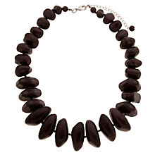 Buy John Lewis Graduated Bead Statement Necklace, Dark Grey Online at johnlewis.com