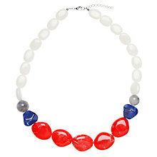 Buy John Lewis Rio Chunky Resin Bead Statement Necklace, Coral Online at johnlewis.com