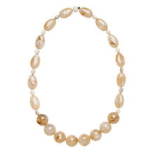 Buy John Lewis Tiga Long Resin Bead Necklace, Mustard Online at johnlewis.com