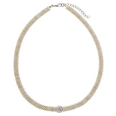 Buy John Lewis Effervescent Glass Necklace, Silver Online at johnlewis.com
