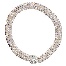 Buy John Lewis Effervescent Glass Bracelet, Silver Online at johnlewis.com