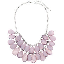 Buy John Lewis Layered Stone Statement Necklace, Grey Online at johnlewis.com