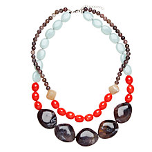 Buy John Lewis Cali Resin Layered Bead Statement Necklace, Coral Online at johnlewis.com