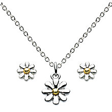 Buy Julie Dodsworth Necklace And Stud Earrings, Silver/Gold Online at johnlewis.com