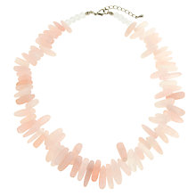 Buy John Lewis Irregular Glass Bead Necklace, Rose Quartz Online at johnlewis.com