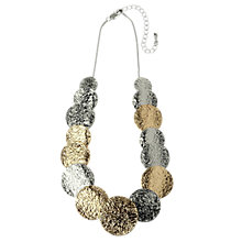 Buy Adele Marie Gold And Rhodium Toned Disc Necklace, Silver/Gold Online at johnlewis.com