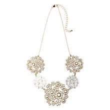 Buy Adele Marie Silver And Gold Toned Floral Necklace Online at johnlewis.com