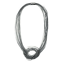 Buy Adele Marie Rhodium Spring Magnet Necklace, Silver Online at johnlewis.com