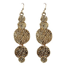 Buy Adele Marie Cascading Disk Drop Earrings Online at johnlewis.com