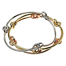 Buy Adele Marie Tri-Colour Three Knot Bangles, Multi Online at johnlewis.com