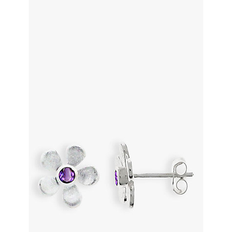 Buy Nina B Sterling Silver Flower Stud Earrings Online at johnlewis.com