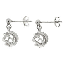 Buy Nina B Sterling Silver Spiral Drop Earrings, Silver Online at johnlewis.com