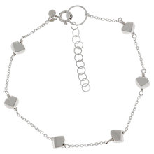 Buy Nina B Sterling Silver Matte Cube Bracelet Online at johnlewis.com