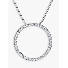 Buy Nina B Sterling Silver Circle Cubic Zirconia Pendant Online at johnlewis.com