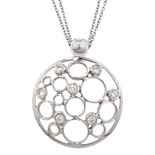 Buy London Road 9ct White Gold Diamond Bubble Pendant, White Gold Online at johnlewis.com