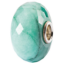 Buy Trollbeads Sterling Silver Faceted Gemstone Charm, Emerald Online at johnlewis.com