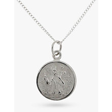 Buy Nina B Sterling Silver St.Christopher Pendant Online at johnlewis.com