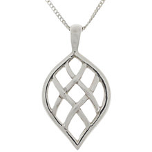 Buy Nina B Sterling Silver Lattice Pendant Online at johnlewis.com