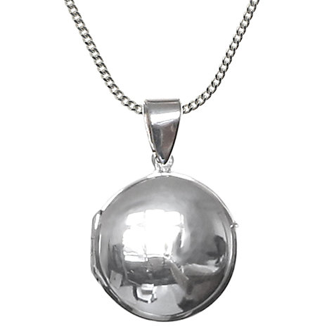 Buy Nina B Sterling Silver Round Locket Online at johnlewis.com