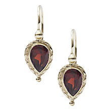 Buy EWA 9ct Yellow Gold Pear Drop Earrings Online at johnlewis.com