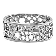 Buy London Road 9ct White Gold Diamond Bubble Ring, O Online at johnlewis.com