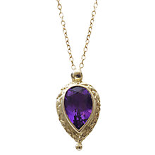 Buy EWA 9ct Yellow Gold Pear Shaped Pendant Necklace Online at johnlewis.com