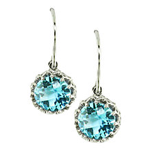 Buy London Road 9ct White Gold Chequer Cut Stone Drop Earrings Online at johnlewis.com