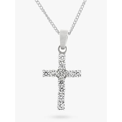 Nina B Sterling Silver Cross Cubic Zirconia Pendant