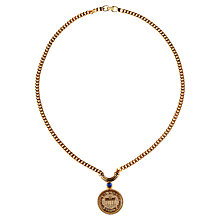 Buy Alice Joseph Vintage 1990s Gilt Plated Grosse Coin Pendant Online at johnlewis.com