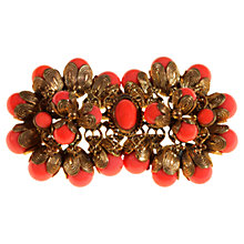 Buy Alice Joseph Vintage 1920s Gilt Plated Beaded Brooch, Coral Online at johnlewis.com