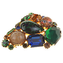 Buy Alice Joseph Vintage 1950s Gilt Plated Glass Art Brooch Online at johnlewis.com