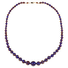 Buy Alice Joseph Vintage 1920s Venetian Beads Necklace, Cobalt Blue Online at johnlewis.com