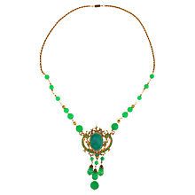 Buy Alice Joseph Vintage 1940s Gilt Plated Beaded Necklace, Jade Online at johnlewis.com