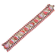 Buy Alice Joseph Vintage 1950s Glass Stones Bracelet, Pink Online at johnlewis.com
