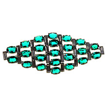 Buy Alice Joseph Vintage 1940s Silver Toned Diamante Brooch, Green Online at johnlewis.com