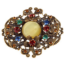 Buy Alice Joseph Vintage 1920s Gilt Plated Bohemian Brooch, Yellow Online at johnlewis.com